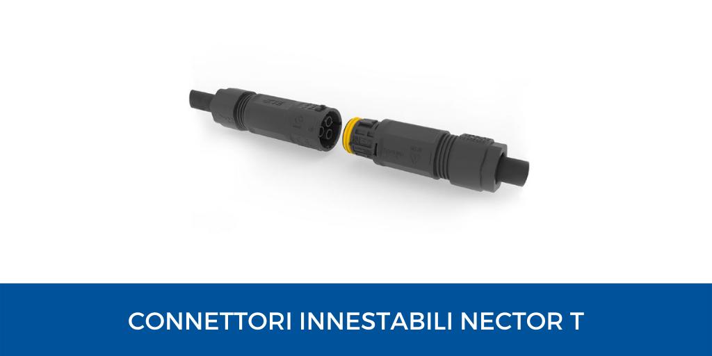connettori innestabili Nector T per ambienti umidi e bagnati