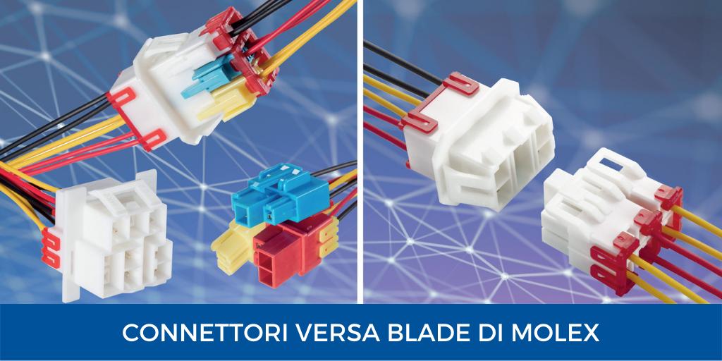connettori Versa Blade di Molex per installazioni in ambienti difficili